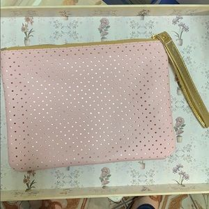 Pink and Gold Large Wristlet
